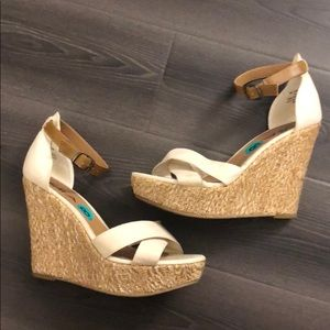 Mia ankle strap wedges